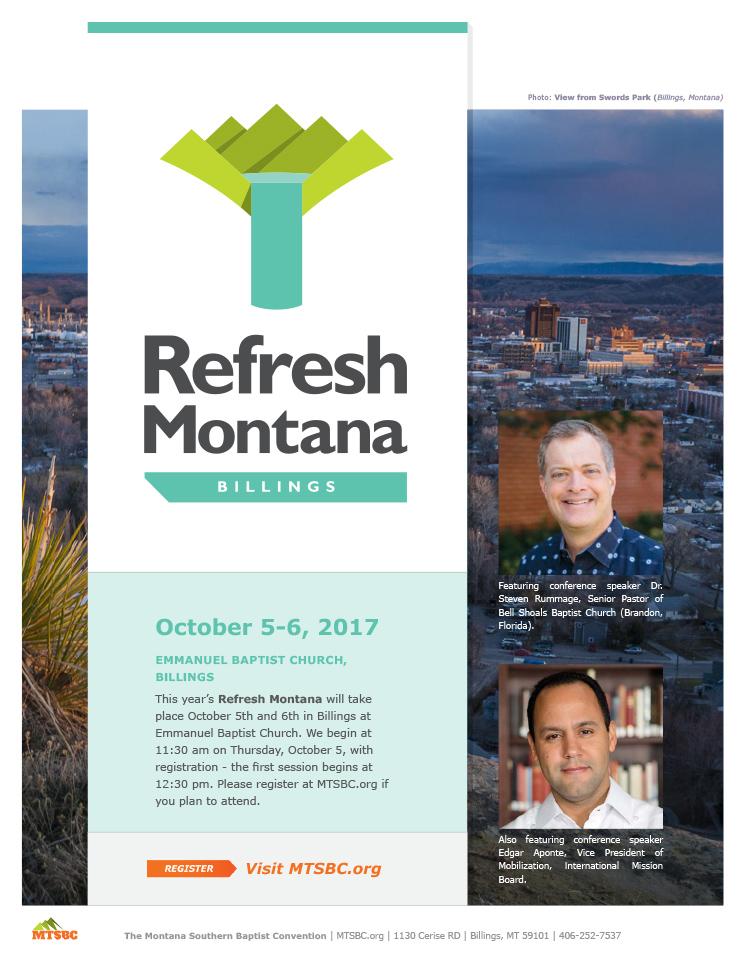 Refresh Montana, October 5-6, 2017